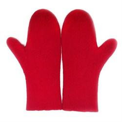 """Варежки валеные """"Красные"""" ручной работы - фото 10078"""