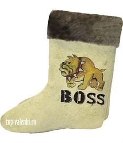 """Валенки с  росписью """"BOSS"""" - фото 10306"""