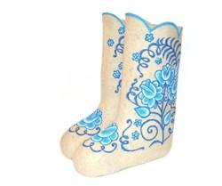 """Дизайнерские валенки женские """"Гоар"""" ручной работы - фото 11684"""