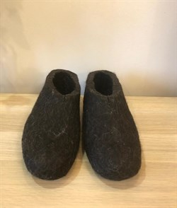 Мужские валяные тапочки натуральные без обшивки - фото 11764