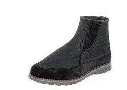 Мужские войлочные ботинки черные - фото 12384