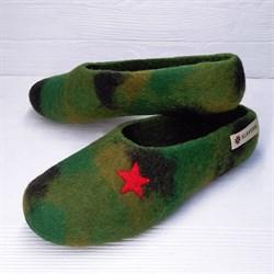 """Цветные валяные тапочки """"Звезда"""" - фото 12713"""