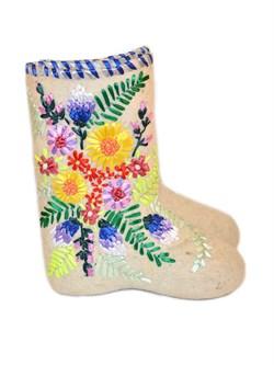 Валенки дизайнерские  Радмира с ручной вышивкой