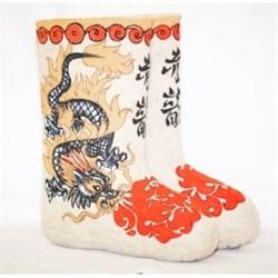 """Валенки ручной работы с росписью """"Японский дракон""""  - фото 5685"""