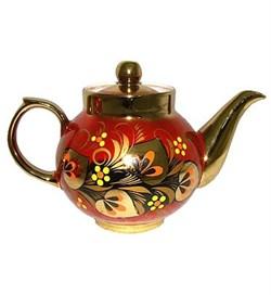 Керамический чайник с росписью - фото 8141