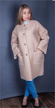"""Женское пальто из шерсти мериносов """"Доминика"""" - фото 8711"""