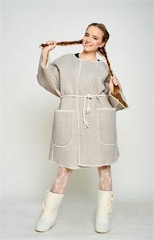 """Женское пальто из шерсти мериносов """"Елизавета"""" - фото 8713"""