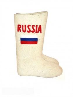 """Валенки мужские с вышивкой """"Russia"""" ручной валки - фото 9279"""