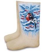 Валенки женские с росписью  «Снегирь»