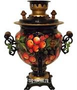 Самовар электрический, роспись Яблочный Спас, 3л, форма овал