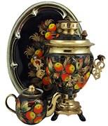 Самовар в наборе 3л, роспись Яблочный Спас, арт. 018