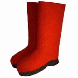 """Валенки красные на подошве женские ручной работы  """"Ася"""" - фото 10877"""
