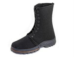 """Мужские войлочные ботинки черные """"Берцы"""" - фото 10993"""
