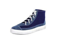 Войлочные кеды высокие, синие - фото 11055