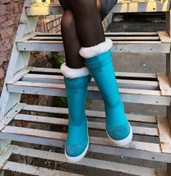 """Войлочные сапоги с отделкой из натуральной замши и меха """"Луиза"""" - фото 11718"""