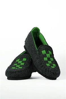 """Войлочные мокасины """"CHESS"""" зеленые - фото 12978"""