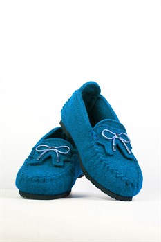 """Войлочные мокасины """"ISEO"""" голубые - фото 13041"""