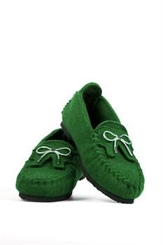 """Войлочные мокасины """"ISEO"""" зеленые - фото 13044"""