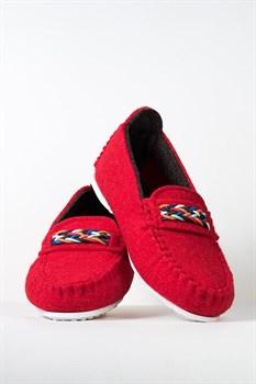 """Войлочные мокасины """"BERGAMO"""" красные - фото 13058"""