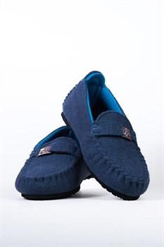 """Войлочные мокасины """"COMO"""" синие - фото 13088"""