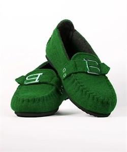 """Войлочные мокасины """"BELITI"""" зеленые - фото 13175"""