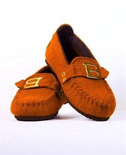 """Войлочные мокасины """"BELITI"""" оранжевые - фото 13178"""