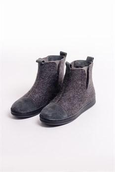 """Войлочные ботинки с отделкой натуральной замшей """"Мия"""" - фото 13838"""