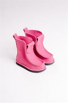 """Валеши высокие валяные на подошве """"Marevo"""" розовые - фото 13920"""