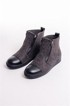 """Войлочные ботинки """"Итан"""" серые - фото 14043"""