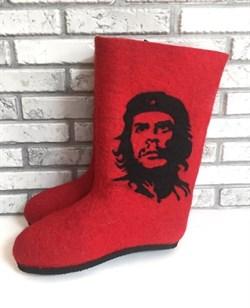 """Валенки мужские на подошве """"Че Гевара"""" красные - фото 14080"""
