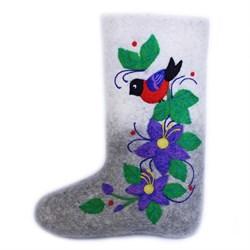 """Дизайнерские валенки с вышивкой """"Павла"""" на подошве тэп ручной работы - sale - фото 15091"""