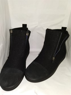 """Войлочные ботинки """"Итан"""" черные, замша - фото 15506"""