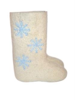 """Валенки с вышивкой """"Снежинка"""" ручной работы - фото 4311"""