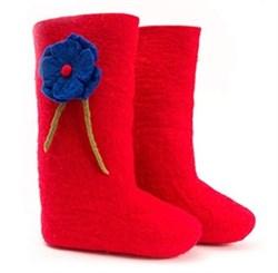 """Валенки женские красного цвета """"Red&Blue"""""""