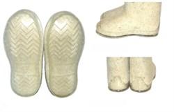 """Валенки с вышивкой """"Снежинка"""" ручной работы - фото 6247"""