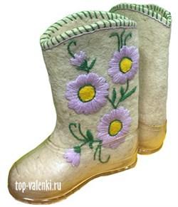 """Валенки женские  с вышивкой """"Василиса"""" ручной работы - фото 7169"""
