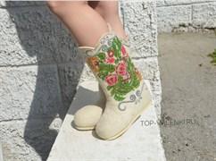 """Дизайнерские валенки женские на подошве ручной работы """"Милана"""""""