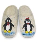 """Детские валяные тапочки ручной работы """"Пингвинчики"""" ручной работы"""