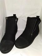 """Войлочные ботинки """"Итан"""" черные, замша"""
